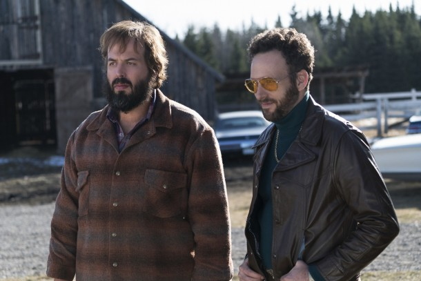 FARGO -- ÒDid You Do This? No, you did it!Ó -- Episode 207 (Airs Monday, November 23, 10:00 pm e/p) Pictured: (l-r) Angus Sampson as Bear Gerhardt, Ryan O'Nan as Ricky. CR: Chris Large/FX