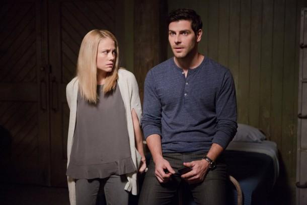 "GRIMM -- ""Maiden Quest"" Episode 504 -- Pictured: (l-r) Claire Coffee as Adalind Schade, David Giuntoli as Nick Burkhardt -- (Photo by: Scott Green/NBC)"