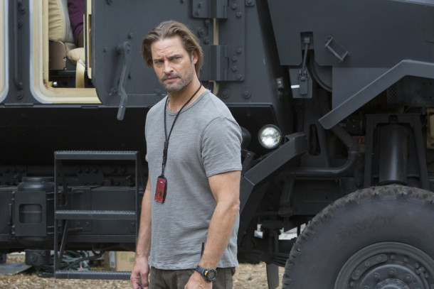 "COLONY -- ""98 Seconds"" Episode 103 -- Pictured: Josh Holloway as Will Bowman -- (Photo by: Jack Zeman/USA Network)"