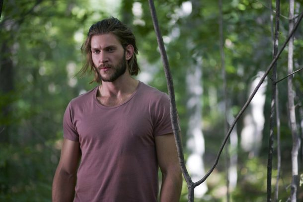 """BITTEN -- """"Family, Of Sorts"""" Episode 301 -- Pictured: Greyston Holt as Clay Danvers -- (Photo by: Shane Mahood/Syfy/She-Wolf Season 3 Productions)"""