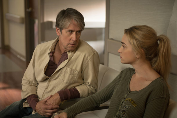"THE EXORCIST:  L-R:  Alan Ruck and Brianne Howey in the ""Chapter Eight:  The Griefbearers"" episode of THE EXORCIST airing Friday, Nov. 18 (9:01-10:00 PM ET/PT) on FOX.  ©2016 Fox Broadcasting Co.  Cr:  Jean Whiteside/FOX"