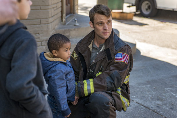 """CHICAGO FIRE -- """"One Hundred"""" Episode 508 -- Pictured: Jesse Spencer as Matthew Casey -- (Photo by: Matt Dinerstein/NBC)"""