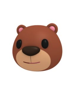 bear head 3d cartoon model
