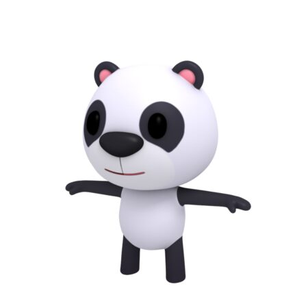 panda cartoon 3d model