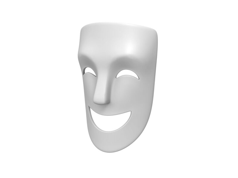 Theater Happy Mask 3d model
