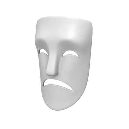 Theater Sad Mask 3d model