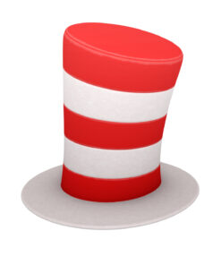 Striped Top Hat 3d model