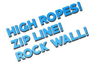 High Ropes Rock Wall Zip Line