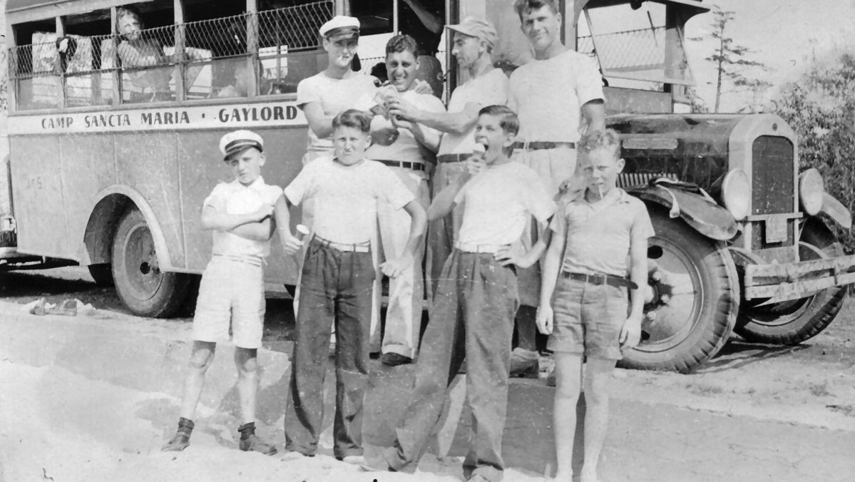 1938 Camp Bus Group