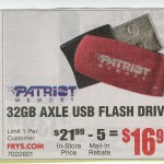 Fry's Advertisement: 32GB Patriot USB for $17
