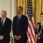 Eli Harari Receiving National Medal of Technology and Innovation. Photo Credit: Ryan K Morris and the National Science and Technology Medals Foundation