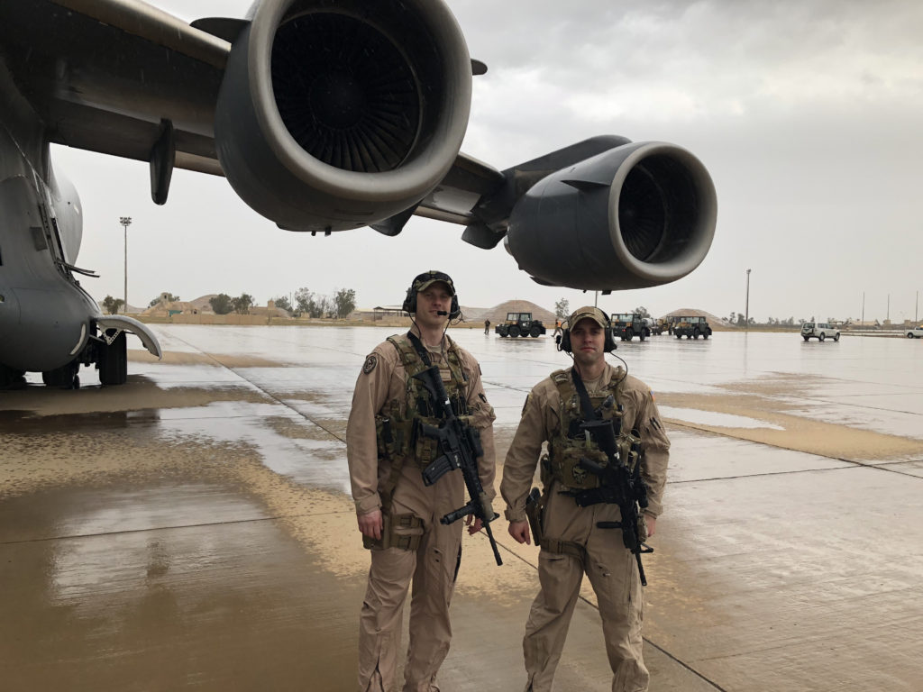 Adam on Raven trip in Iraq
