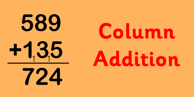 Addition is best done in columns.
