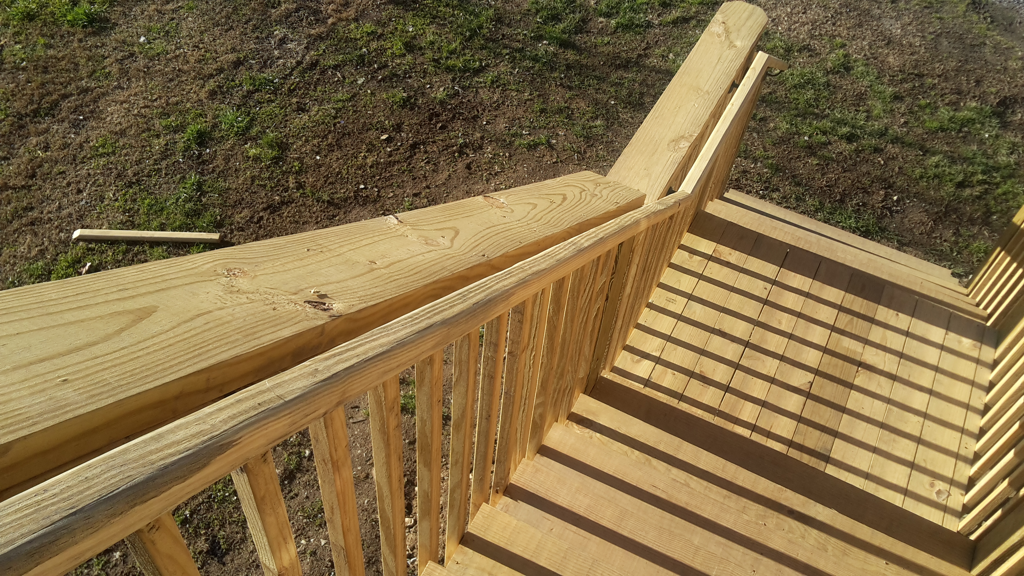 Stair Railing Height For Decks Ramps