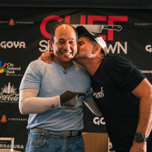 Chef Ralph Pagano and Burnie Matz show some love before the Chef Showdown