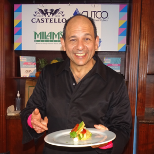 Master Chef Ralph Pagano displays his dish
