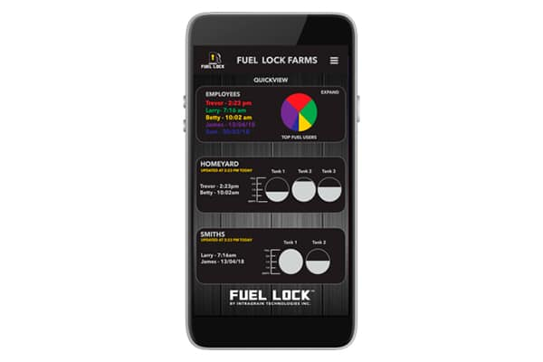 Fuel Lock Business Product Image, mobile app