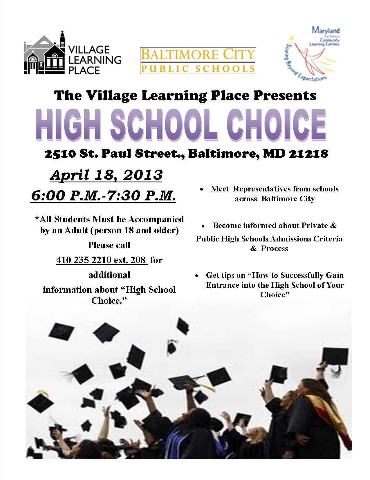 High School Choice Flyer 2012-2013