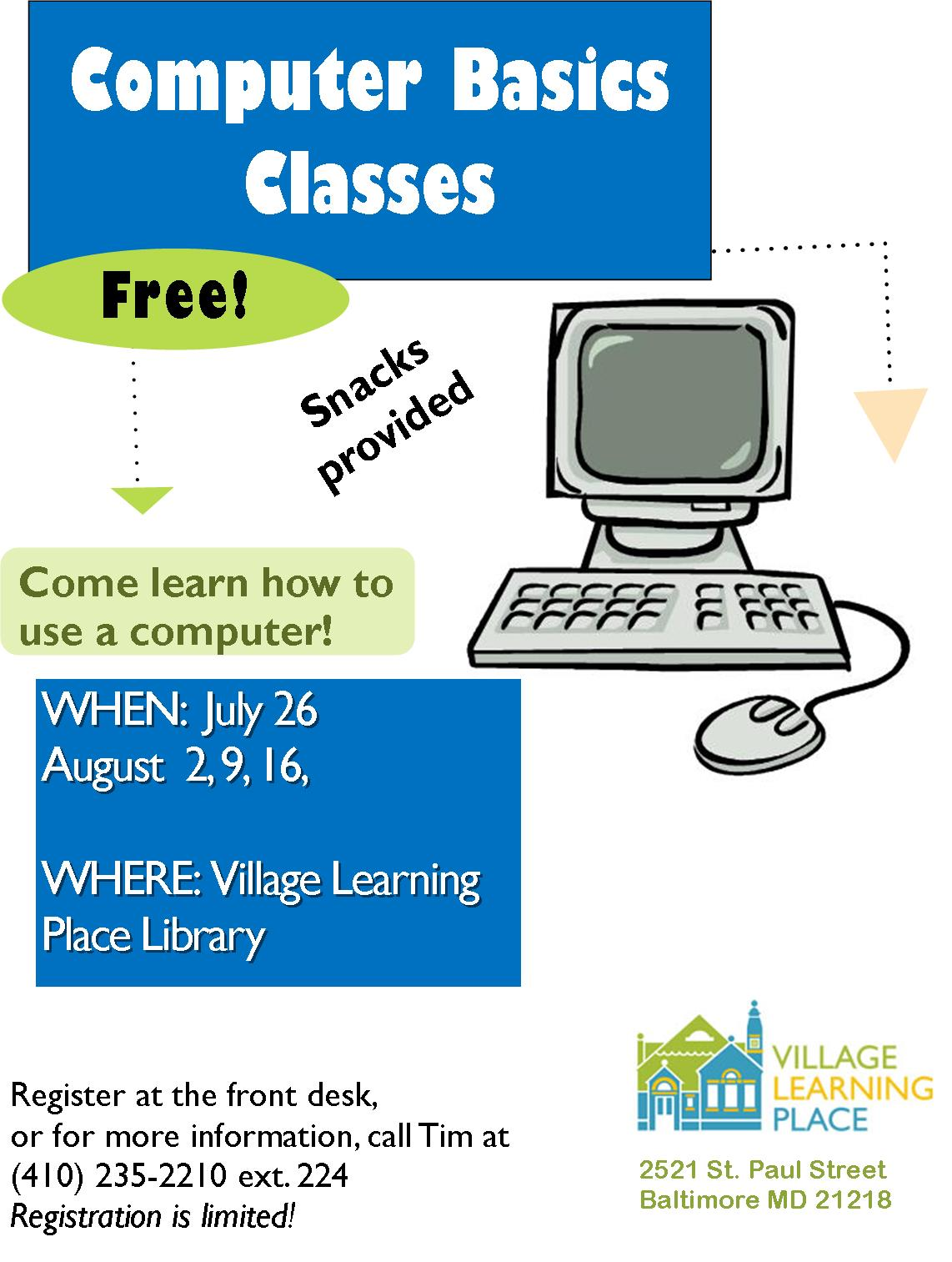 free computer classes for beginners near me