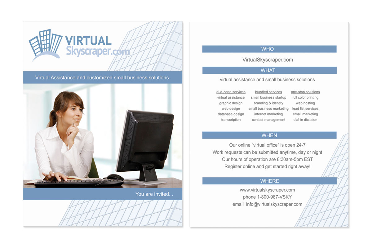 Virtual Skyscraper Postcard