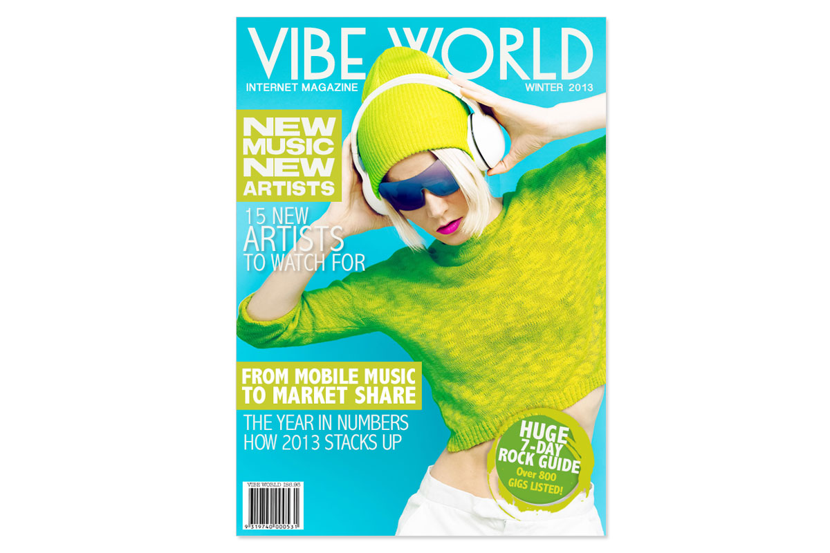Vibe World Magazine Cover