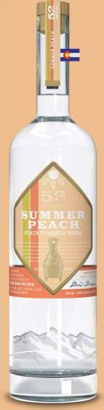 52eighty summer peach vodka bottle