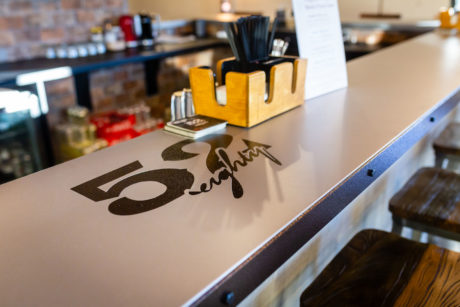52eighty tasting room counter