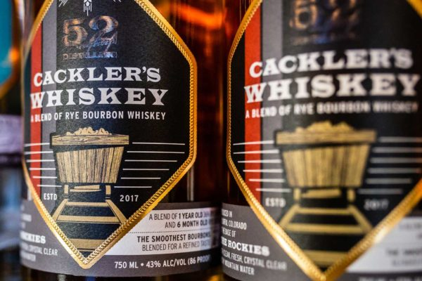 cracklers whiskey bottles shelf