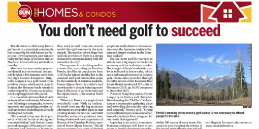 As noted by the Edmonton Sun on February 7, 2015 and proven simply by the sales success, the shift in Montane's vision from golf to mountain biking has put a new spin on things!