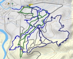 Montane, trail system, map