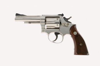 Original Nickel Smith & Wesson Pre Model 18 K-22 Combat Masterpiece