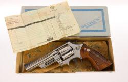 "Smith & Wesson Rare 5"" Nickel Model 27 .357 Magnum"