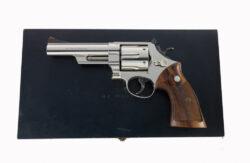 """Smith & Wesson Pre Model 29 .44 Magnum 5"""" Nickel"""