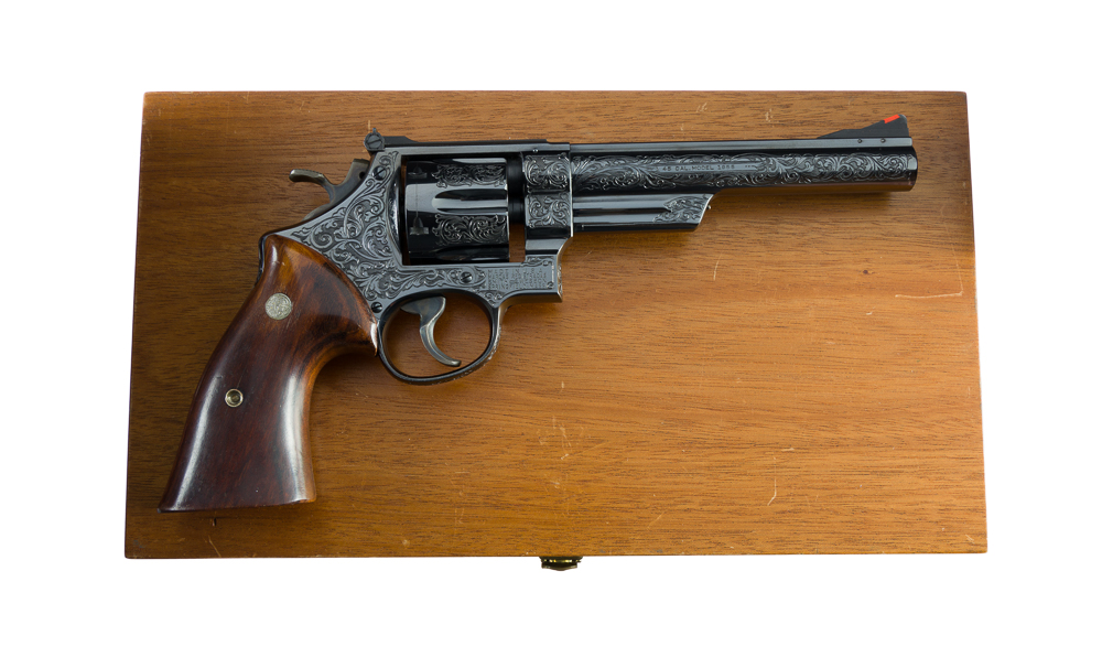 Factory Class A Harry Jarvis Engraved Smith & Wesson Pre Model 25