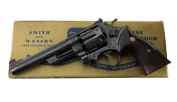 "Factory Class A Harry Jarvis Engraved Smith & Wesson Pre Model 27 6"" .357 Magnum"