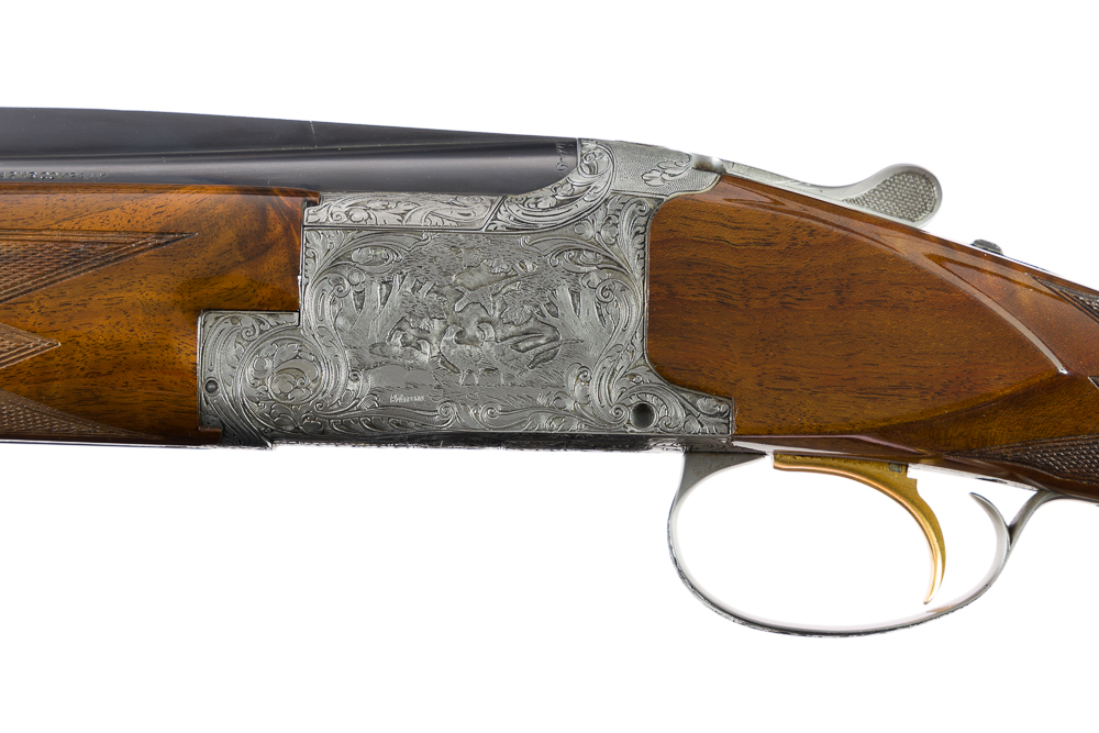 Belgium Browning Superposed Diana Grade 410 28 20 Three Barrel Set Marechal Factory Engraved