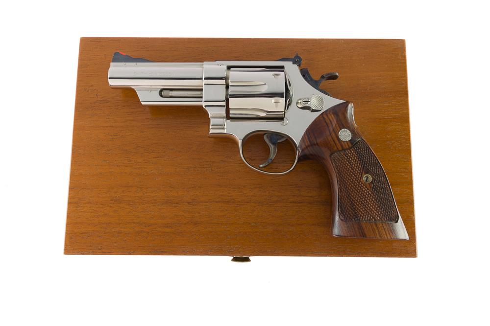"Smith & Wesson Model 57 .41 Magnum 4"" Nickel"