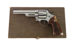 "Smith & Wesson Prototype Cased Model 57 .41 Magnum 6"" Nickel"