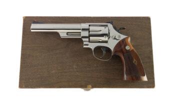 "Smith & Wesson Prototype Cased Model 57 .41 Magnum 6"" Nickel"