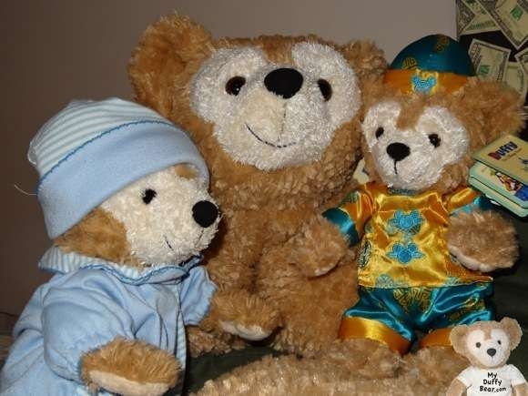 Duffy the Disney Bear shares his Pillow Pet with Hong Kong Chinese New Year Duffy Bear