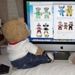 Duffy the Disney Bear reads the Disney Blog