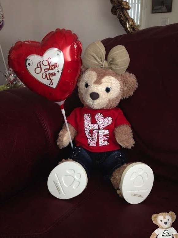 ShellieMay the Disney Bear wonders if Duffy will remember Valentine's Day
