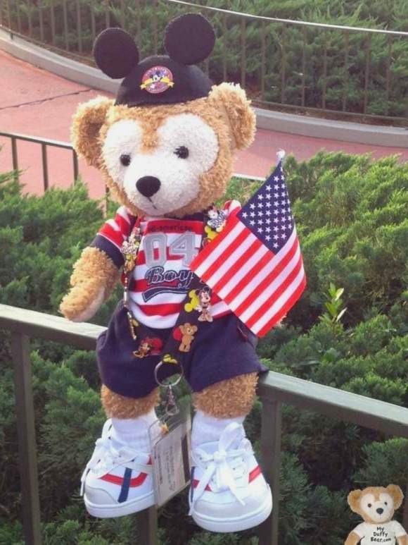 Duffy the Disney Bear Celebrates Independence Day, 4th of July at Magic Kingdom