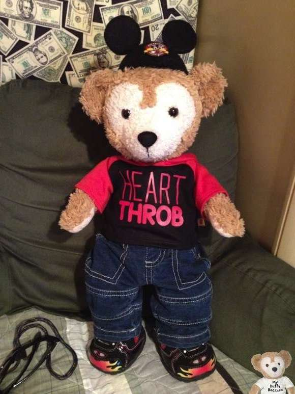 Duffy the Disney Bear Outfit Build-a-Bear Valentine's Heartthrob Hoodie