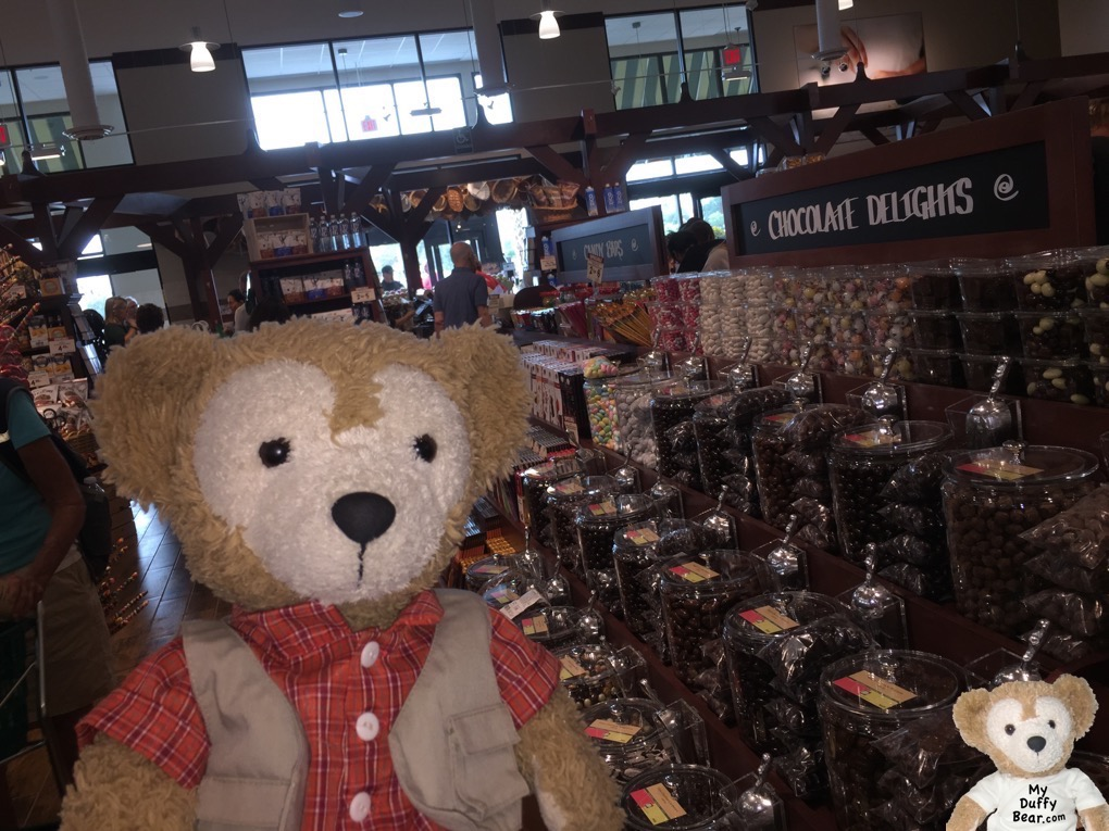 Duffy the Disney Bear spots the Chocolate at The Fresh Market