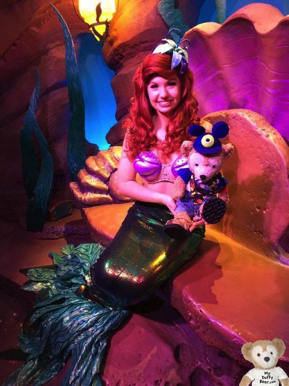 Posing with Princess Ariel, The Little Mermaid