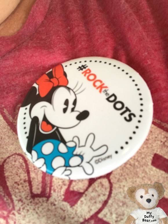 #RocktheDots Button from Disney Springs