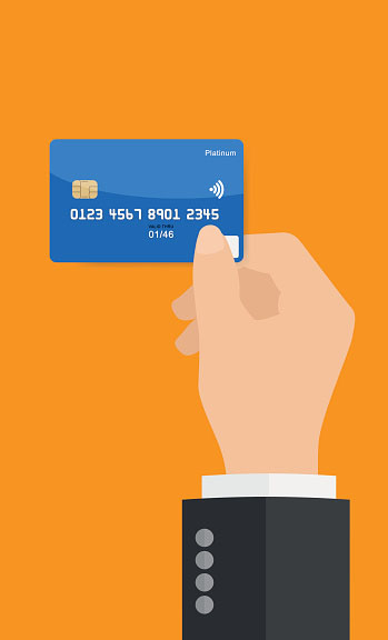 Business Hand Holding Credit Card