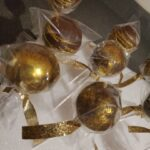 Chocolate Cake Pops with Gold Dust