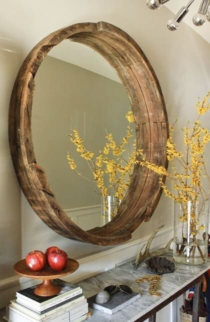 Mirror-Decor with Barrels
